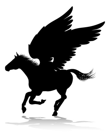 Pegasus Silhouette Mythological Winged Horse