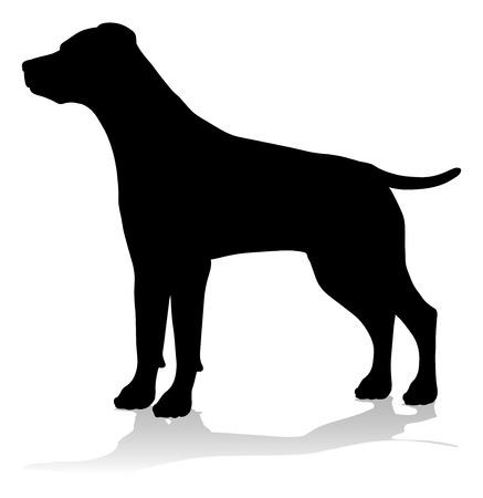Dog Silhouette Pet Animal 일러스트