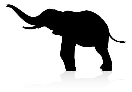 Elephant Silhouette Stok Fotoğraf - 129033007