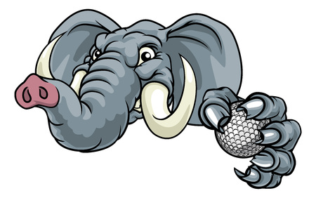 Elephant Golf Ball Sports Animal Mascot