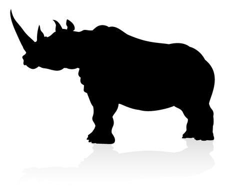 Rhino Animal Silhouette Çizim