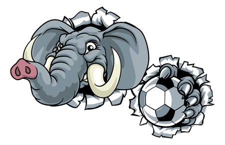 Elephant Soccer Football Ball Sports Mascot