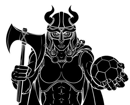 Viking Female Gladiator Football Guerrier Woman