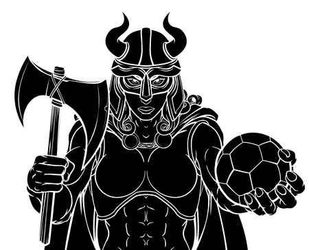 Viking Female Gladiator Soccer Warrior Woman Çizim