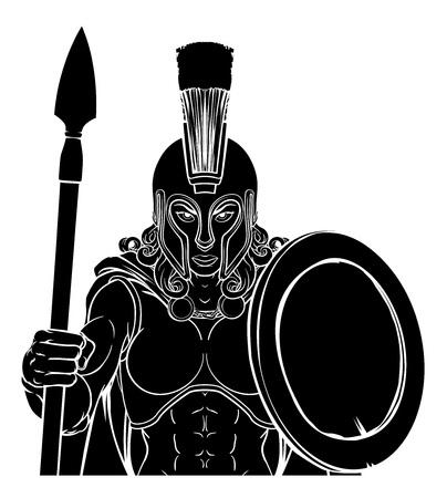 Spartan Trojan Female Warrior Gladiator Woman Banque d'images - 132316115