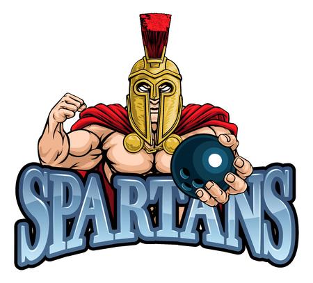 Spartan Trojan Bowling Sports Mascot
