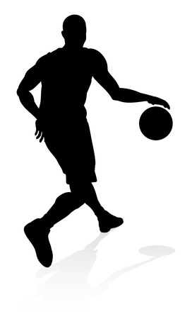 Basketballl player silhouette Illustration