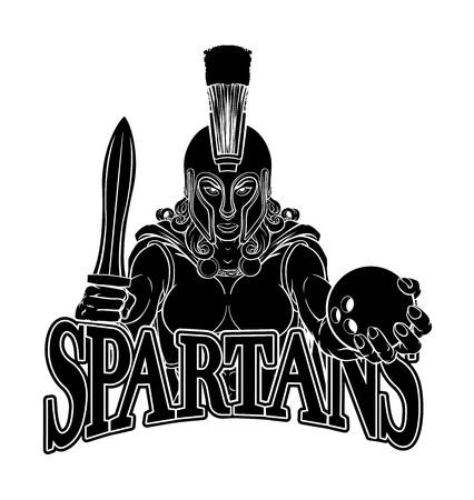 Spartan Trojan Gladiator Bowling Warrior Woman Banque d'images - 132315708