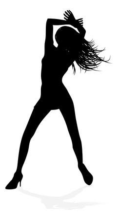 Woman Dancing Person Silhouette Stok Fotoğraf - 130165558