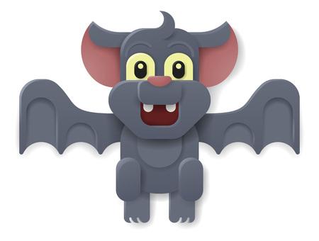 Halloween Cute Vampire Bat Cartoon Stok Fotoğraf - 130165560