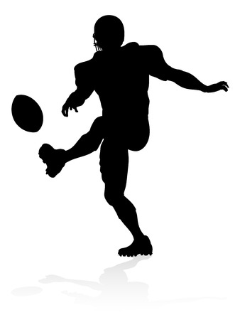 Silhouette American Football Player