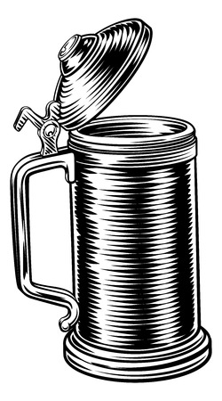 Beer Stein German Oktoberfest Pint Tankard Mug