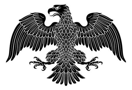 Adler Imperiales heraldisches Symbol