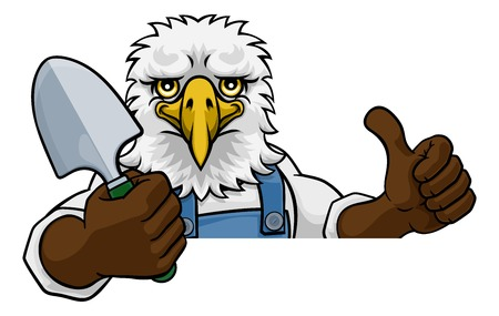 Eagle Gardener Gardening Animal Mascot