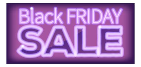 Black Friday Sale Purple Neon Sign