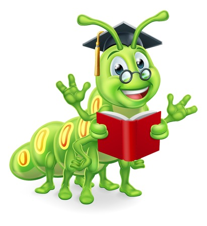 Reading Book Worm Caterpillar