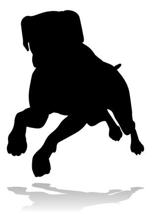 Dog Silhouette Pet Animal Ilustração