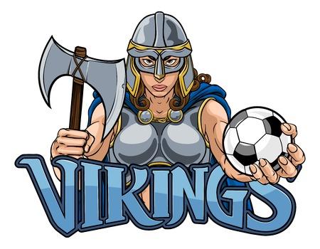 Viking Trojan Celtic Knight Football Guerrier Woman