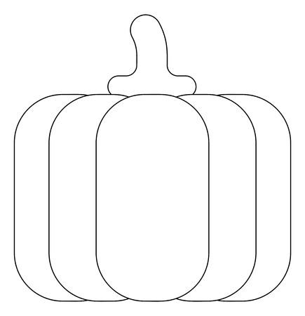 Pumpkin Cartoon Vegetable Coloring Illustration