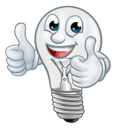 Light Bulb Cartoon Character Lightbulb Mascot