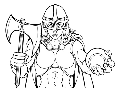 Viking Trojan Celtic Knight Tennis Guerrier Woman