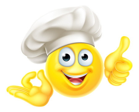Emoji Chef Cook Cartoon OK Thumbs Up