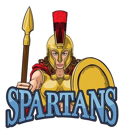 Spartan Trojan Female Warrior Gladiator Woman Archivio Fotografico - 132261677