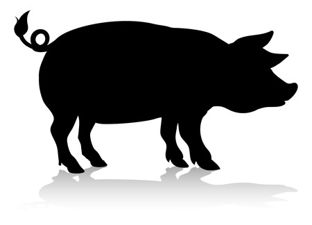 Pig Farm Animal Silhouette