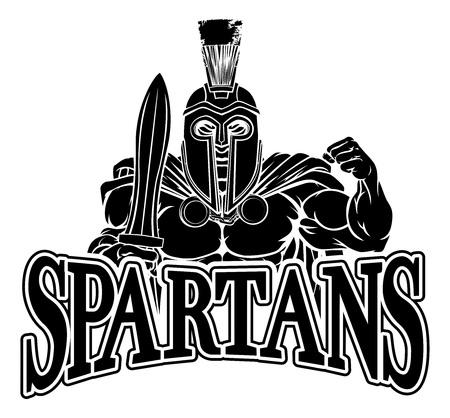 Spartan Trojan Sports Mascot Çizim