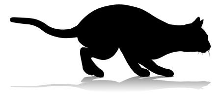 Silhouette Cat Pet Animal Çizim