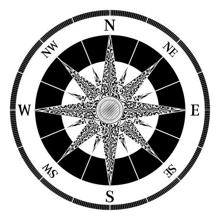 Compass Vintage Design Çizim