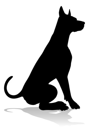 Dog Silhouette Pet Animal 向量圖像