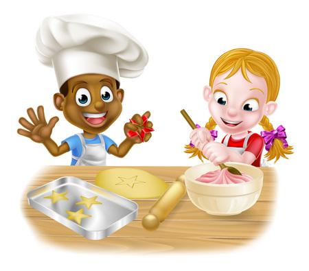 Cartoon Child Chefs Çizim