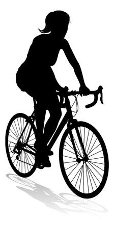 Woman Bike Cyclist Riding Bicycle Silhouette