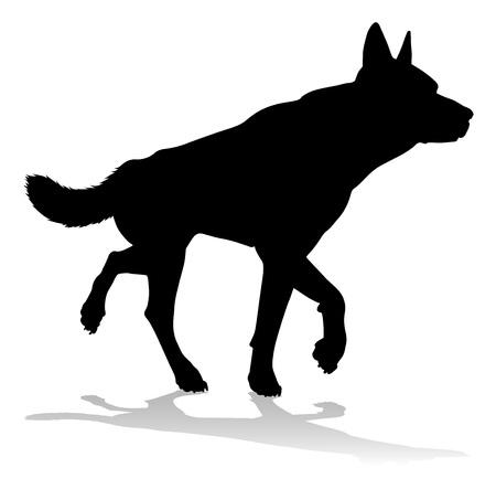 Dog Silhouette Pet Animal Ilustrace