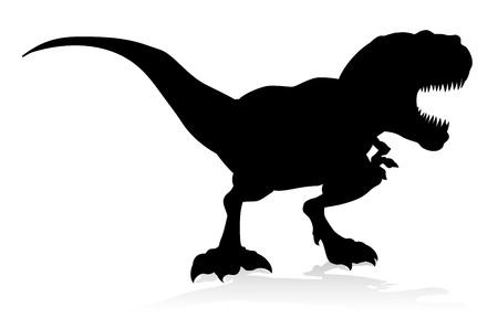 Silueta de dinosaurio TRex Ilustración de vector