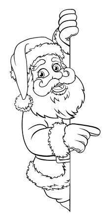 Santa Claus Christmas Cartoon Character  イラスト・ベクター素材
