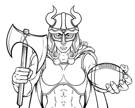 Viking Female Gladiator Football Warrior Woman