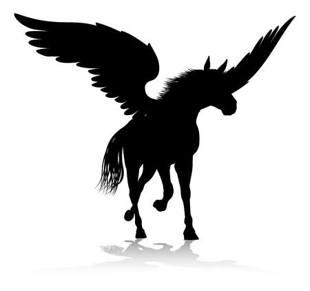 Pegasus Silhouette Mythological Winged Horse