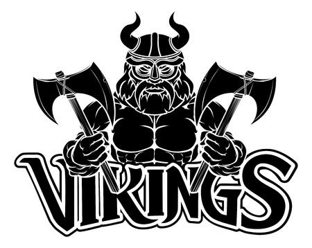 Viking Warrior Sports Mascot Ilustração