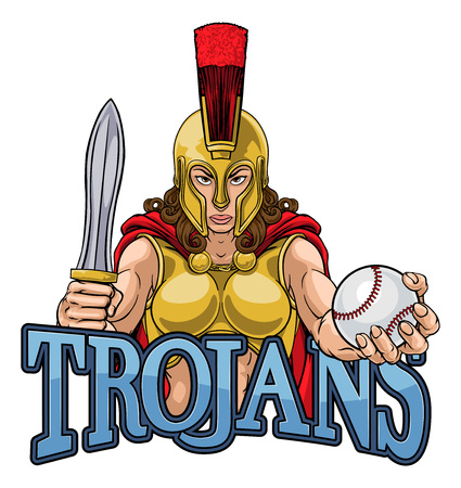 Spartan Trojan Gladiator Baseball Warrior Woman