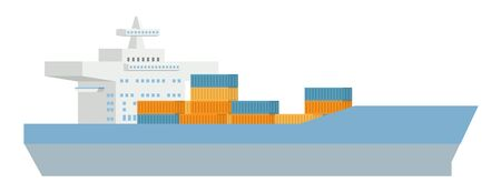 Logistics Cargo Container Ship Concept