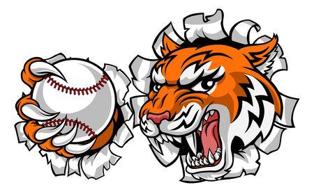 Tygrys tenisista zwierząt sportowa maskotka