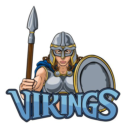 Viking Trojan Spartan Celtique Guerrier(ère) Chevalier Woman Vecteurs