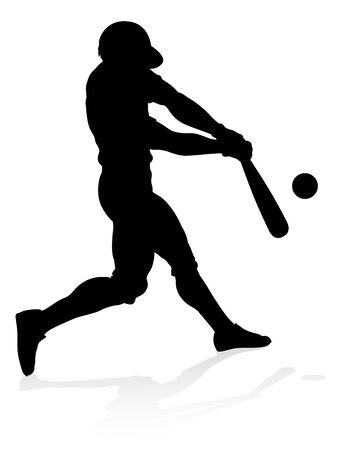 Baseball Player Silhouette 向量圖像