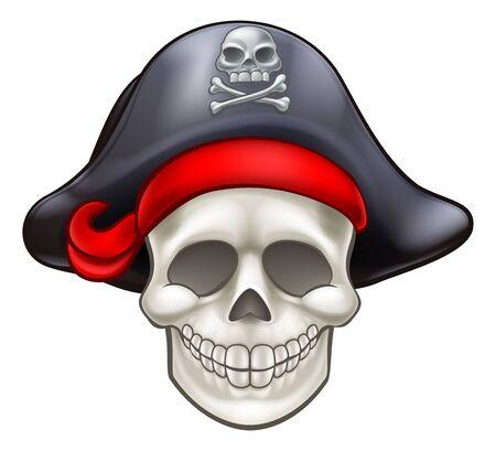 Skull Pirate Cartoon