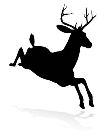 Deer Animal Silhouette Stock Illustratie