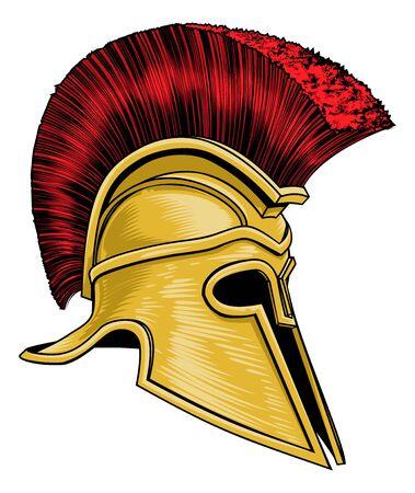 Ancient Greek Spartan Gladiator Warrior Helmet