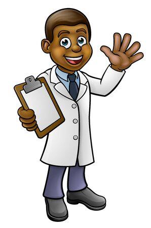 Scientist or Lab Technician Cartoon Character