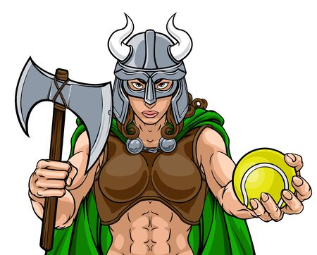 Viking Female Gladiator Tennis Warrior Woman